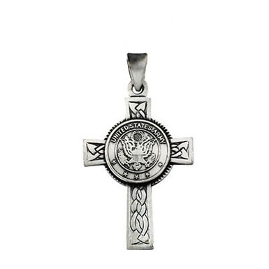 U.S. Army Cross Pendant in Sterling Silver