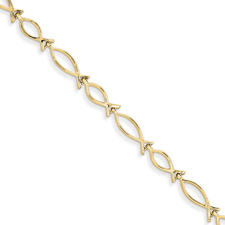 Ichthus Bracelet in 14k Gold