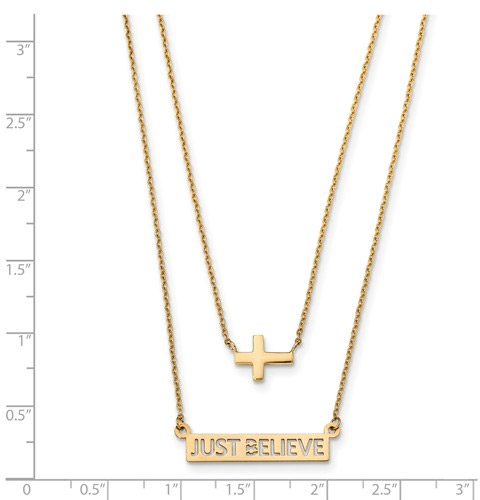 just believe cross necklace