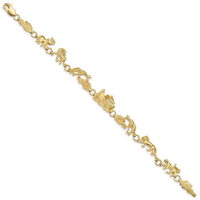 Noah's Ark Bracelet, 14K Gold