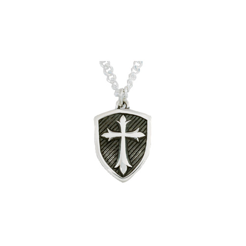 Shield of faith christian cross necklace in sterling silver shield of faith christian cross necklace in sterling silver aloadofball Images