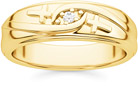 Men's Diamond Cross Wedding Band in 14K Gold