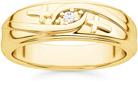 Men's Diamond Cross Wedding Band in 14K Gold