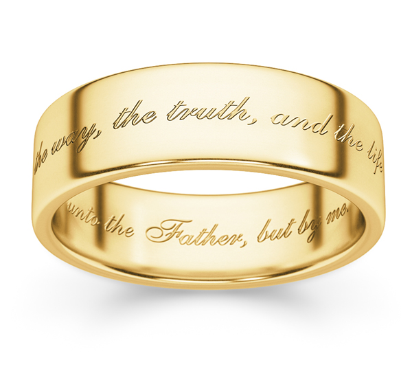 The Way, the Truth, and the Life Ring in 14K Gold