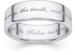 Sterling Silver The Way, the Truth, and the Life Ring
