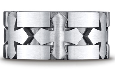 Cobalt Chrome Celtic Cross Ring
