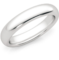 4mm 14K White Gold Comfort Fit Wedding Band Ring