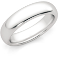 5mm 14K White Gold Comfort-Fit Wedding Band