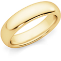 5mm Comfort Fit Wedding Band Ring, 14K Gold