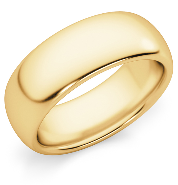 7mm Comfort-Fit 14k Gold Wedding Band Ring