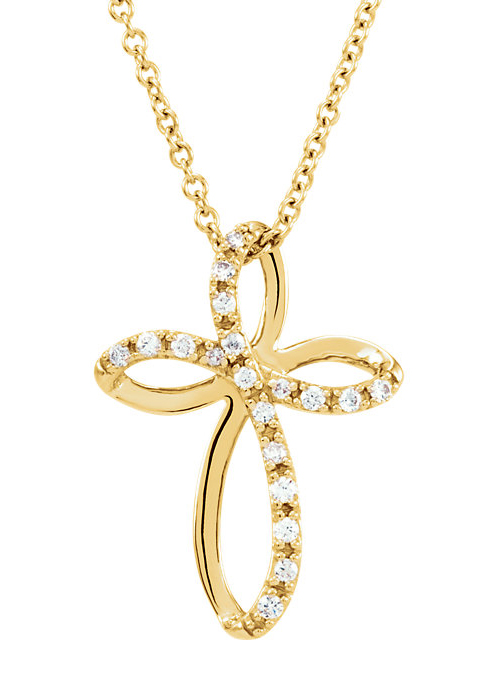 God Sent His Son Diamond Cross Necklace