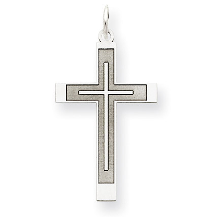 A Cross Within a Cross 14K White Gold Pendant