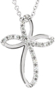 For God So Loved the World Diamond Cross Necklace
