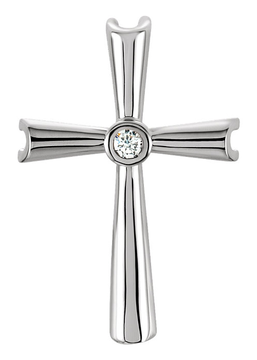Justified by Faith Diamond Cross Pendant