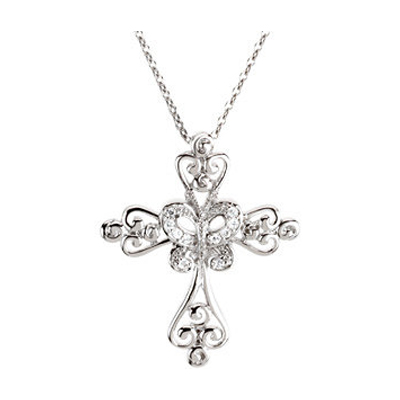 New Creation in Christ Silver Cross Necklace