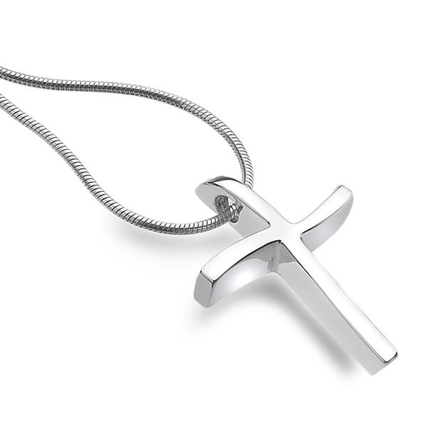 Saved By Grace Cross Necklace for Women in Sterling Silver