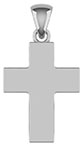 Sterling Silver Thick Polished Plain Cross Pendant