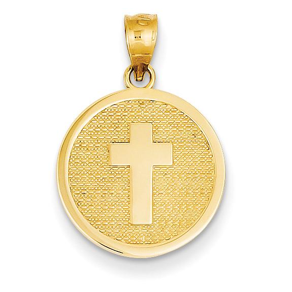 Cross Disc Charm Pendant with