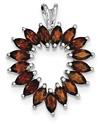 1.90 Carat Marquise-Cut Garnet Heart Pendant in Sterling Silver