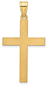 Men's 14K Gold Sandblasted Cross Pendant
