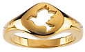 14K Gold Cut-Out Holy Spirit Dove Ring for Women
