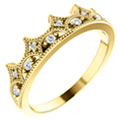 Diamond Crown of Life Ring in 14K Gold