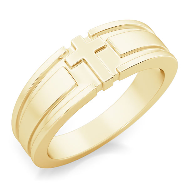 I Am the Way Men's 14K Gold Cross Ring