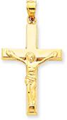 Traditional Crucifix Pendant, 14K Yellow Gold