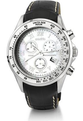 Buy Leather Titanic III GianTTo Watch with Mother of Pearl