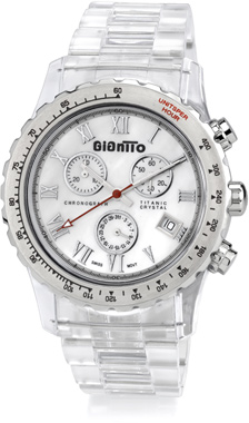 Men's Crystal Titanic GianTTo Watch with White Mother of Pearl (Watches, Apples of Gold)