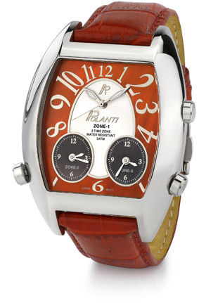 3 Time Zone Polanti Watch, Red