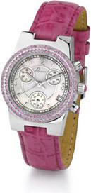 Ciel Polanti Watch with Pink Sapphire Bezel