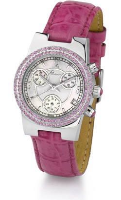 Ciel Polanti Watch with Pink Sapphire Bezel (Watches, Apples of Gold)
