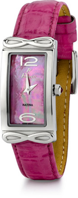 Natina Polanti Watch, Dark Pink (Watches, Apples of Gold)