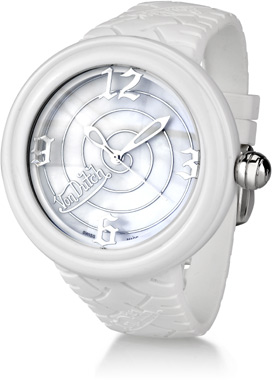 Buy Von Dutch Watch – Spiral Collection XL, White Silicon Band