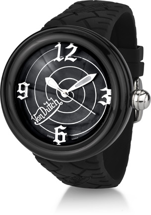 Buy Von Dutch Watch – Spiral Collection XL, Black Silicon Band