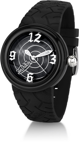 Von Dutch Watch - Black Spiral Collection - ONLY 1 LEFT! FINAL SALE, 70% OFF OF RETAIL PRICE!