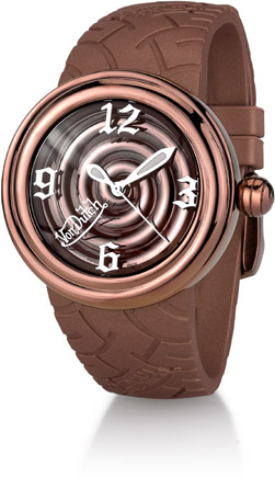 Buy Von Dutch Watch – Spiral Collection Medium, Stainless Steel & Bronze Silicon