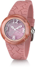 Von Dutch Watch - Spiral Collection Medium, Pink Silicon Band - ONLY 2 LEFT! FINAL SALE, 70% OFF OF