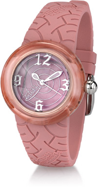 Buy Von Dutch Watch – Spiral Collection Medium, Pink Silicon Band