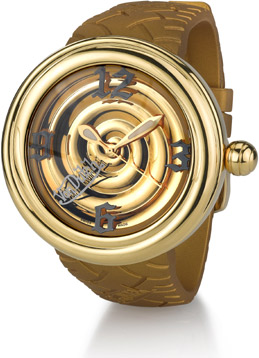 Buy Von Dutch Watch, Spiral Collection Large, Stainless Steel & Gold Silicon