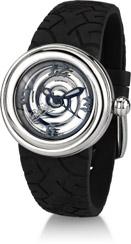 Von Dutch Watch - Spiral Collection Small, Stainless Steel & Black Silicon - ONLY 3 LEFT! FINAL SALE
