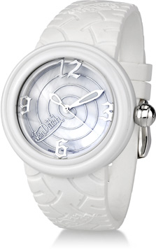 Buy Von Dutch Watch – Spiral Collection Large, White Silicon Band