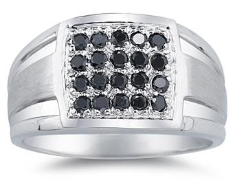 1/2 Carat Men's Black Diamond Regal Ring