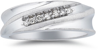 0.12 Carat Men's Diamond Band (Apples of Gold)