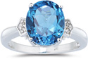 4.50 Carat Blue Topaz and Diamond Ring