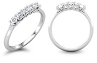 3/4 Carat 5-Stone Diamond Anniversary Ring