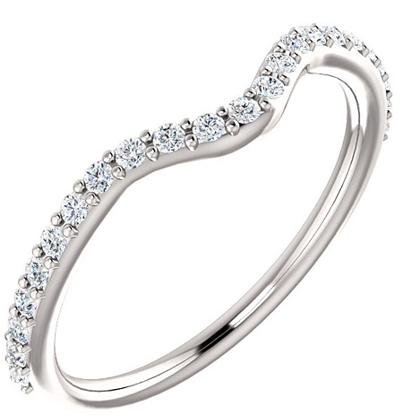 Accompanying Diamond Bridal Band for Heart-Shaped Ring