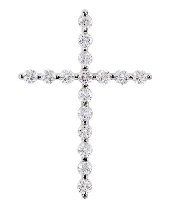 1/2 Carat Diamond Studded Cross Necklace