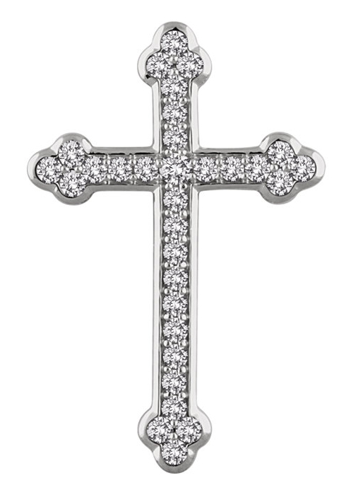Crucified With Him Diamond Cross Necklace